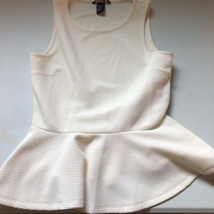 H&M sleeveless white blouse